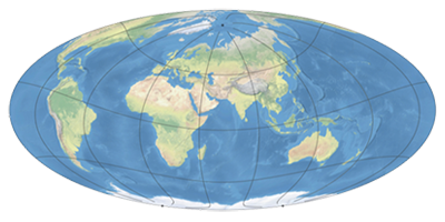 Adaptive Composite Map Projections